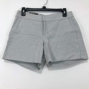 Banana Republic Sparkling Metallic Silver Shorts 2